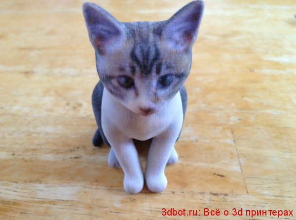 3д скульптура котенка