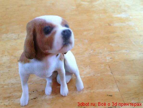 3д скульптура щенка
