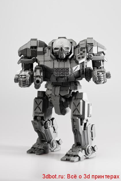 Mechwarrior напечатали на 3d принтере