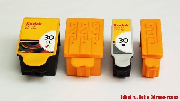 2d картридж напечатали на 3d принтере