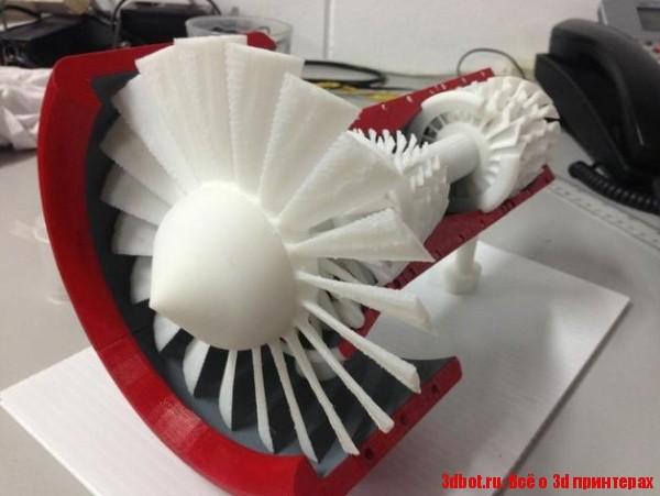 Реактивный двигатель напечатали из 3d принтера