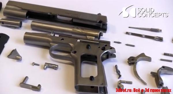 3d модель пистолета из металла