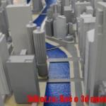 3d модель города Чикаго напечатали на 3d принтере