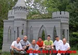 3d принтер построил замок