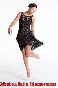 3D полупрозрачное платье