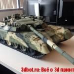 3D печать модели советского танка T80