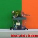 На 3D принтере напечатали робота-хамелеона