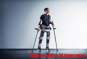Экзоскелет делают на 3d принтере