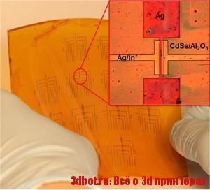 На 3D принтере делают гибкие транзисторы