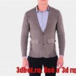 3D печатный Бесшовный пиджак для мужчин