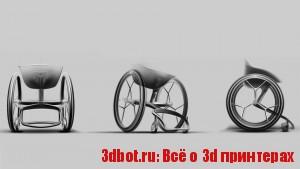Инвалидное кресло напечатали на 3d принтере