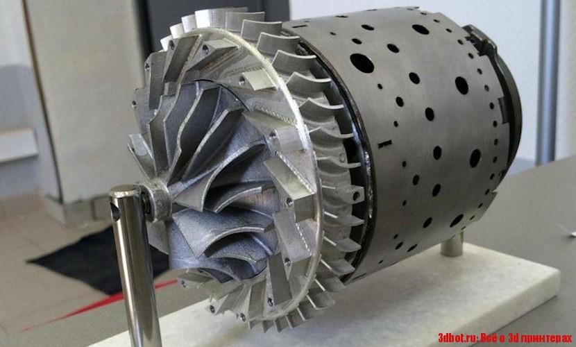 3D печатная камера сгорания газотурбинного двигателя