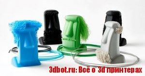 Пластиковая вермишель как 3D печатное искусство