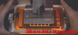 T3D - фотополимерный 3D принтер на основе смартфона