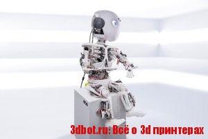 Робот-гуманоид с сухожилиями, мышцами и костями